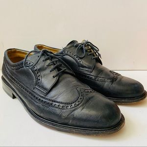 Bally Wingtip Leather Oxfords Made In France
